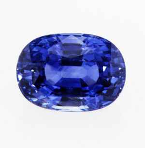 Royal blue oval natural Sapphire
