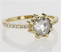 Picture of One of a kind Engagement ring with 0.88 carat Rose cut natural diamond.Price includes the 0.88!