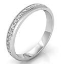 Foto Alianza de diamantes de eternidad, 3 mm 0,45 quilates de