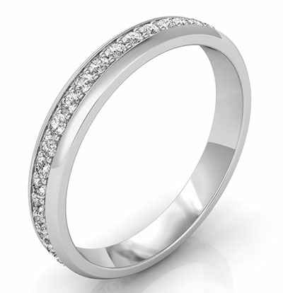 Eternity diamond band, 3mm 0.45 carat