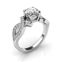 Picture of Bowtie engagement ring 0.25CTW side diamonds