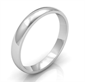 Picture of Plain wedding band 3mm, Low dome