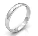 Foto Alianza de boda lisa de 3 mm, domo bajo de