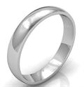 Foto Alianza de boda de domo bajo de 4 mm, ajuste cómodo de
