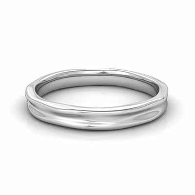 2.5 to 3 mm comfort fit wedding band, California trails