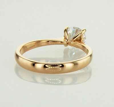 El anillo de compromiso Solitario, Lady
