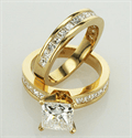 Picture of Bridal set, Princess accent diamonds 1.05 Cts