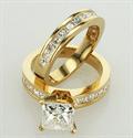 Foto Set nupcial, diamantes Princesa de acento de 1,05 Ct de