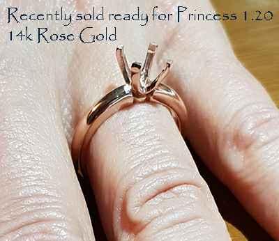 Tiffany solitaire Novo Replica 4 or 6 prongs
