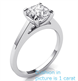 Picture of Delicate solitaire engagement ring for Cushions and Princess diamonds