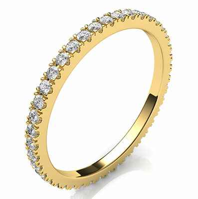 Eternity diamonds wedding or anniversary band