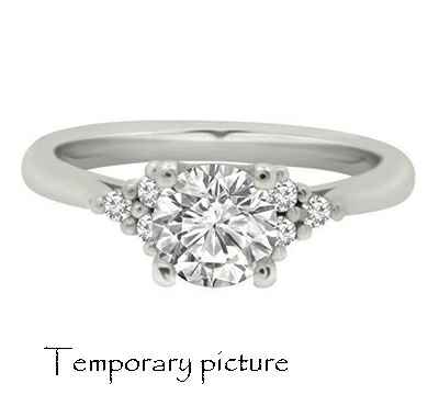 Engagement ring with 6 small side diamonds, for all center diamond sahpes and sizes