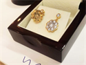 Picture of 2.71  carat diamond Vintage style earrings