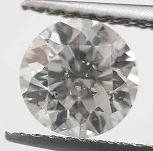 Picture of 1 carat round diamond G SI3 eye-clean, Ideal-Cut. 1.06cts