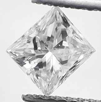 Picture of 0.71 carat Princess natural diamond D VS1, Ideal Cut