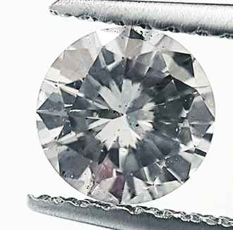 Picture of 0.60 carat, round Diamond with Good Cut, H color  SI1 clarity, certofied by EGS/EGL