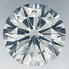 Picture of 0.52 Carats, Round Diamond with Ideal Cut ,F color, SI1 Clarity  Enhanced and Certified by IGL
