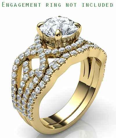 Matching wedding band to swirl engagement ring
