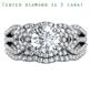 Foto Conjunto nupcial Swirl de perfil bajo adaptado a su diamante, anillo de perfil alto o bajo de