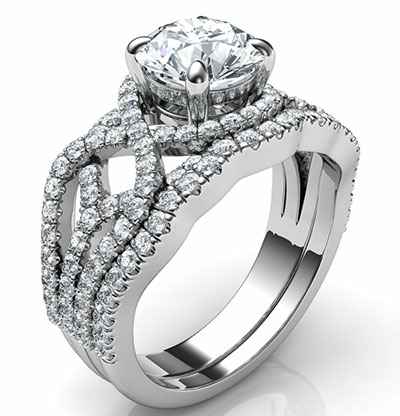 Low Profile Swirl bridal set tailored to your diamond, Low or High Profile ring