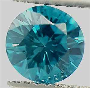Colored diamond into ocean blue color