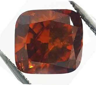 Foto 2.73 Carat, Cushion Diamond with Ideal Cut , Natural fancy, deep Brown-Orange color (GIA), SI1 de