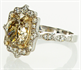 Picture of Art Deco style 2.05 carat center natural Oval GIA natural brown-yellow (Honey color)SI2