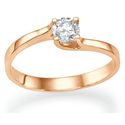 Picture of Rose Gold  Petit solitaire with a twist