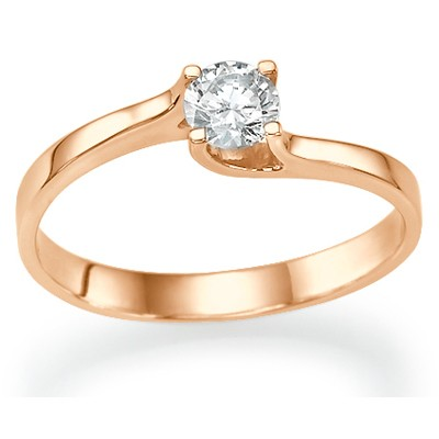 Rose Gold  Petit solitaire with a twist