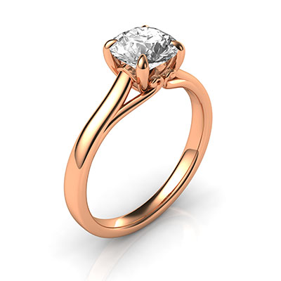 Buddies delicate rose gold  engagement ring
