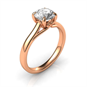 Picture of Buddies delicate rose gold  engagement ring