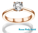 Picture of The Beauty, Solitaire  Rose Gold engagement ring