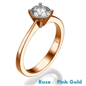 Foto Anillo de compromiso The Beauty, Solitaire Rose Gold de