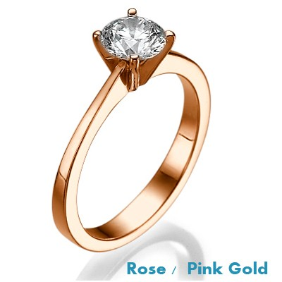 Anillo de compromiso The Beauty, Solitaire Rose Gold