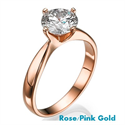 Picture of  Rose Gold Princess and Rounds East-West Engagement Ring