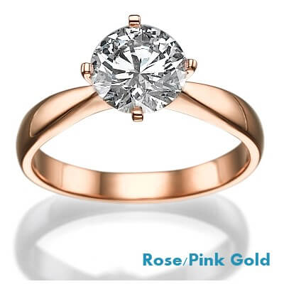 Rose Gold Princess and Rounds East-West Engagement Ring