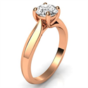 Picture of Rose gold knife edge Solitaire engagement ring