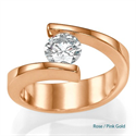 Picture of Contemporary Tension Rose Gold engagement ring