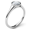 Picture of Sleek and elegant low profile engagement ring for rounds-Beyonce