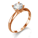 Picture of  Rose Gold Classic style solitaire engagement ring