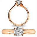 Picture of  Rose Gold Solitaire engagement ring
