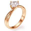 Picture of  Rose Gold, The Vortex Solitaire engagement ring
