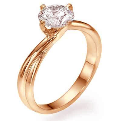 Rose Gold, The Vortex Solitaire engagement ring