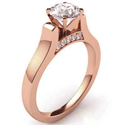 Picture of Designers Cathedral Rose Gold engagement ring with side stones