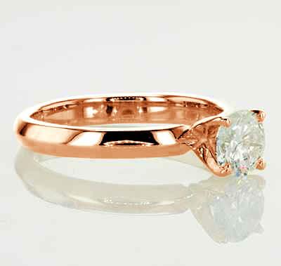 3mm knife edge engagement ring