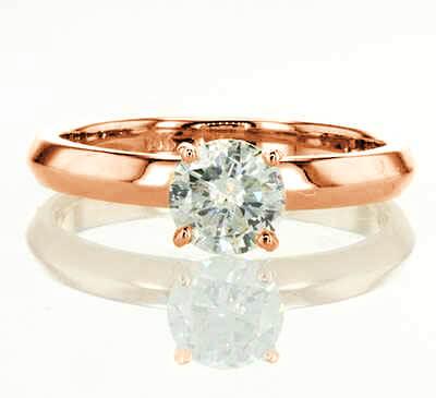 Rose Gold 3mm knife edge engagement ring