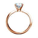 Picture of  Rose Gold 3mm knife edge engagement ring