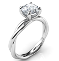 Foto Crystal, the rope solitaire engagement ring for all shapes de
