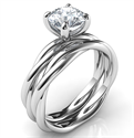 Foto Juego de novia de cuerda de cristal para todas las formas y tamaños de diamantes de