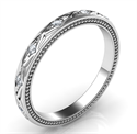 Picture of Kimberly-Leaf motif vintage style wedding band